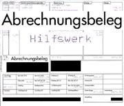 Abrechnungsbeleg HILFSWERK 2005