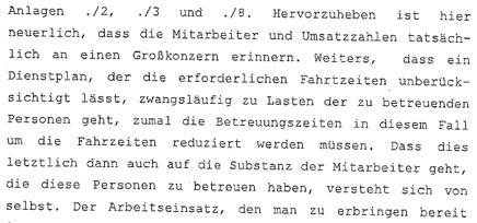Landesgericht Korneuburg zur Reportage von DER GLÖCKEL über die Arbeitsbedingungen beim HILFSWERK