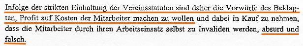 Faksimile aus der Eidesstättigen Erklärung, dem Gericht als Beweismittel von Mag. Wolfgang SCHABATA vorgelegt