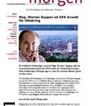 Faksimile aus OTTAKRINGER MORGEN - ÖVP Bezirksrat SUPPAN vertritt nun die Interessen vom ÖVP-nahen HILFSWERK