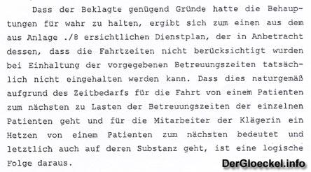 Faksimile aus dem abweisenden Beschluß vom Landesgericht Korenuburg