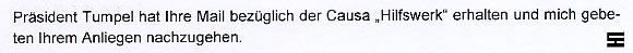 ÖSTERREICHISCHE BUNDESARBEITERKAMMER - CAUSA HILFSWERK - 18.12.06