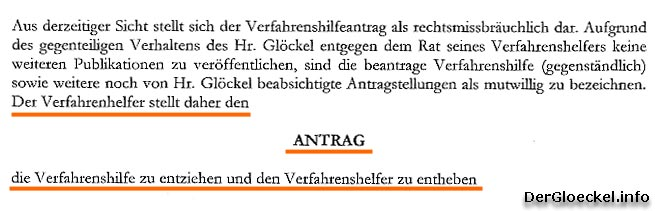 Faksimile aus dem Antrag an das LG Korneuburg