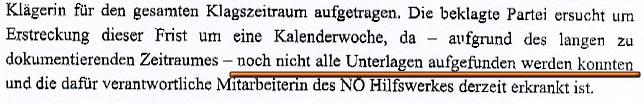 Faksimile aus dem Fristerstreckungsantrag vom NÖ HILFSWERK (CMS Reich-Rohrwig Hainz Rechtsnwälte GmbH)