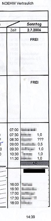 Dienstplan von HERMINE vom NÖ HILFSWERK