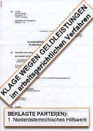 Klage gegen NÖ HILFSWERK am Arbeits- & Sozialgericht Korneuburg