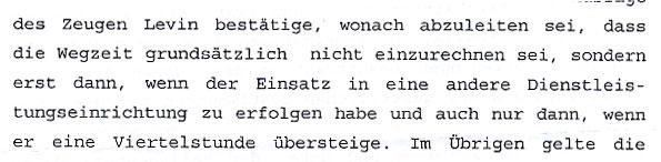 Faksimile aus dem Gerichtsprotokoll NÖ HILFSWERK gegen Walter Egon GLÖCKEL